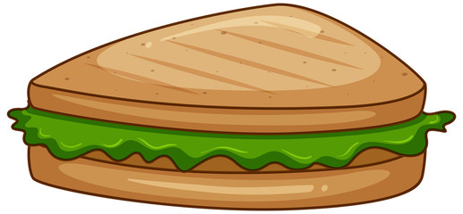 Sandwiches with green lettuce on white background