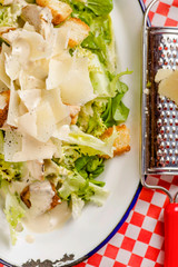 Parmesan cheese salad with chicken