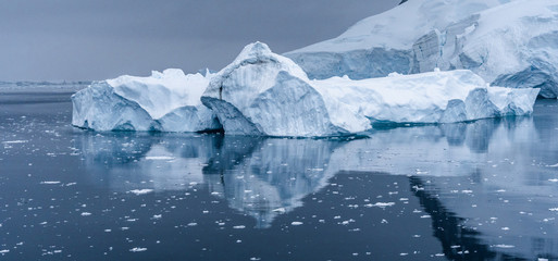 Iceberg in Antarctica sea. Port Lockroy.