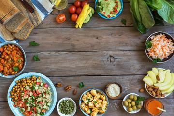 Vegan dinner dishes