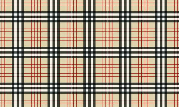Burberry Style Tartan Pattern - Background - Vector - Textile
