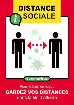 AFFICHE DISTANCE SOCIALE