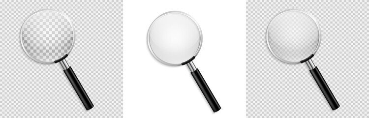 Realistic Magnifying glass vector isolated vector illustration on transparent background Fototapete