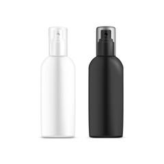 White, black blank or empty bottle for deodorant
