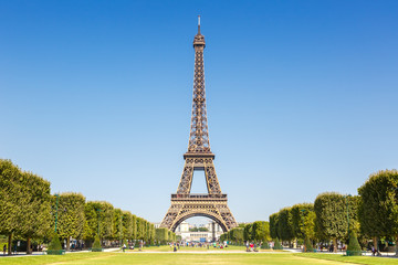 Fotobehang Eiffeltoren Eiffel tower Paris France travel traveling sight landmark