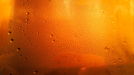 Drops on a beer glass