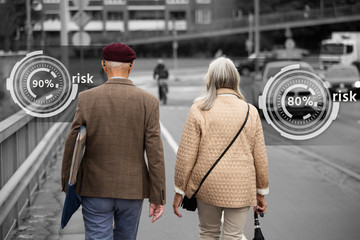 The degree of risk for older people to become a victim of the virus. Infographics
