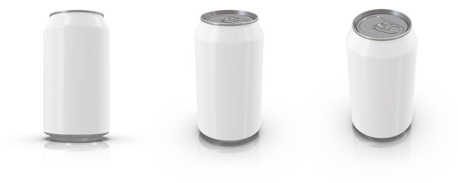 12 oz / 330 ml Realistic Aluminium Can Mockup. 3d rendering