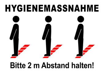 ds45 DiskretionSchild - ks555 Kombi-Schild - german text: Hygienemassnahme / Bitte halten Sie Abstand - Menschen / Linie / Bodenmarkierung - Druckvorlage - DIN A2 A3 A4 g9301