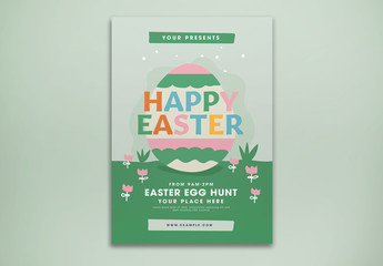 Happy Easter Flyer Layout