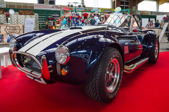 PAAREN IM GLIEN, GERMANY - MAY 23, 2015: Vintage car Ford / Shelby AC Cobra. The oldtimer show in MAFZ.