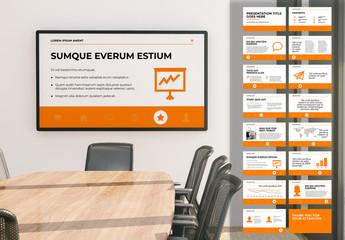 White and Orange Presentation Layout