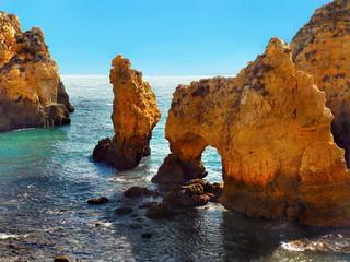 Algarve sea cliffs coast Faro Portugal