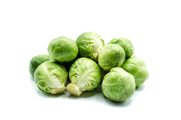 Photo sur Toile Bruxelles brussel sprouts isolated on white background