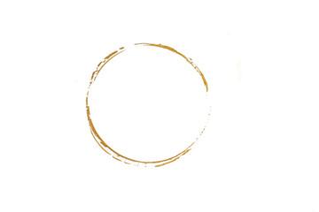 Gold glittering circle of paint golden glitter texture. Abstract gold glittering textured. gold circle frame set