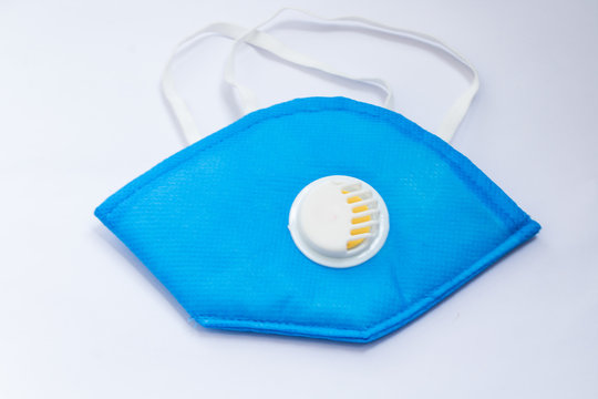 Protective medical face mask for corona virus protection isolated on a white background.