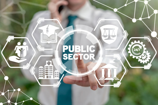 Public Sector Government People Business Concept. Governmental System Citizen Service Concept.