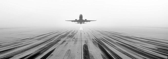 Airport Runway Fog Wall mural
