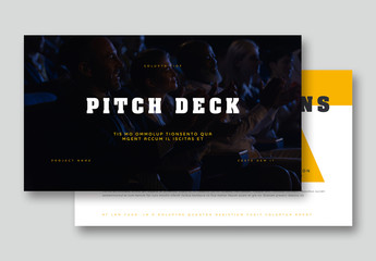 Yellow and White Pitch Deck Layout