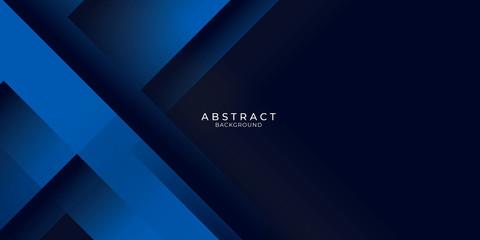 Foto auf Gartenposter Abstrakte Welle Dark blue background with abstract graphic elements for presentation background design.