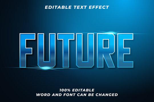 Future text style effect Premium Vector