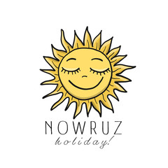 Nowruz greeting card. Iranian new year.