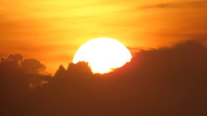 Foto auf Gartenposter Violett rot Por do Sol