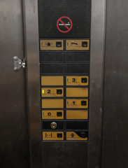 Photo sur Aluminium Pays d Afrique Buttons of a old elevator