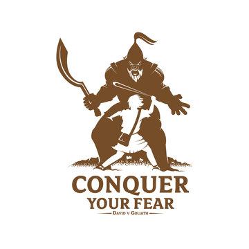 Conquer your fear monochrome version