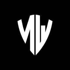 NW logo monogram with shield shape design template