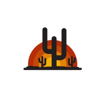 arizona sunrise logo vector, icon, element, and template for company