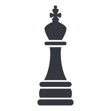 Vector Single Black Chess King.