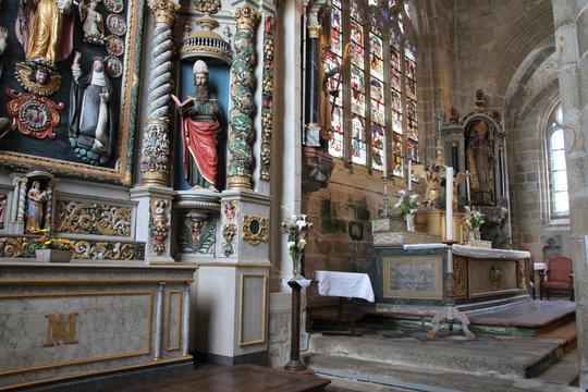 Saint-Ronan church in Locronan in brittany (france)
