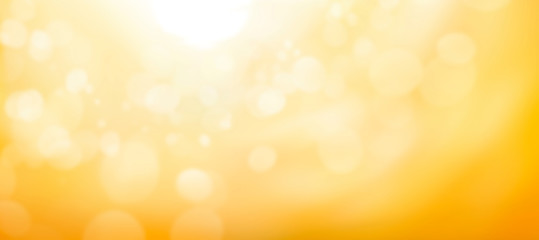 A blurred golden warm yellow and orange abstract sunny summer sky background Illustration. Fotomurales