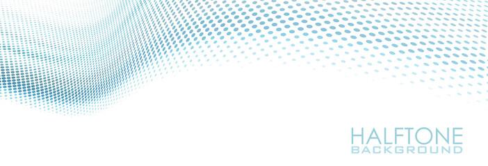 Foto auf Gartenposter Abstrakte Welle Dotted wavy blue surface. Simple vector background