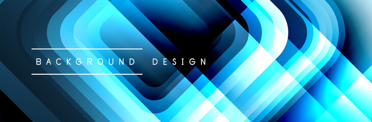 Round squares shapes composition geometric abstract background. Vector Illustration Fototapete