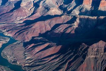 Door stickers Lavender Grand Canyon national park, Arizona, USA. Bird view.