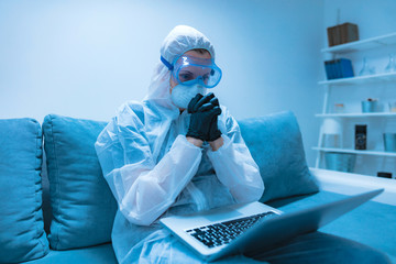 Self-isolation and working from home, prevention, hysteria, fear of viruses and diseases.