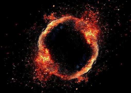 導火線の輪に火がつく