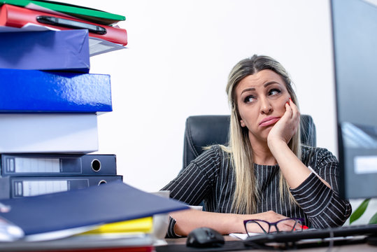Huge amount of work for business woman