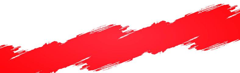 Foto auf AluDibond Formen Smear of red paint