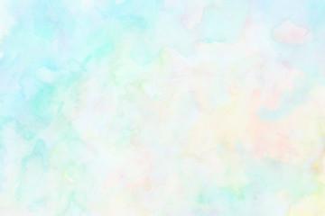 淡い色の手描き水彩背景 Fototapete