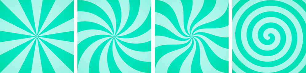 Set of sweet mint candy abstract vector backgrounds Fototapete