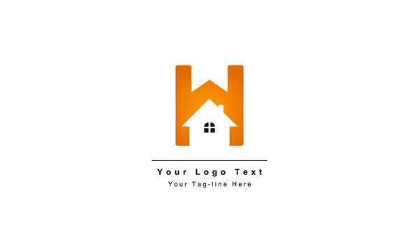 """home logo design, the letter """"H"""" is designed to be a symbol or Icon of the house vector"""