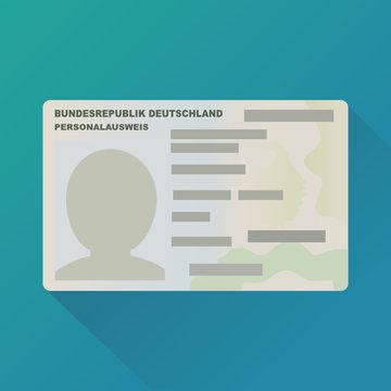 Deutscher Personalausweis (flaches Design)