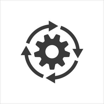 Gear workflow progress vector icon