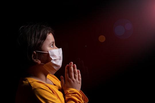 Girl praying God