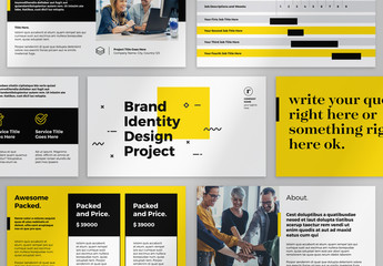 Yellow and Black Presentation Layout