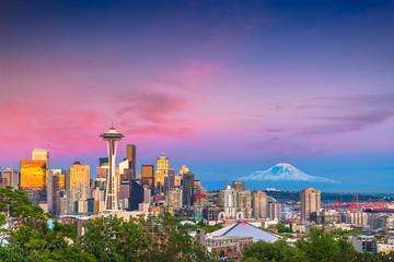 Seattle, Washington, USA Skyline Wall mural