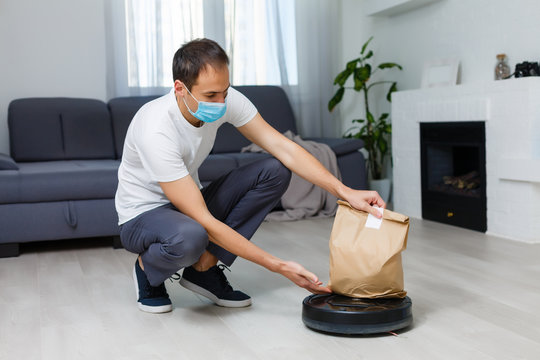 online delivery on a robot during quarantine